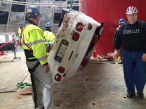Millionth-Corvette-Rescued-from-Corvette-Museum-sinkhole-2
