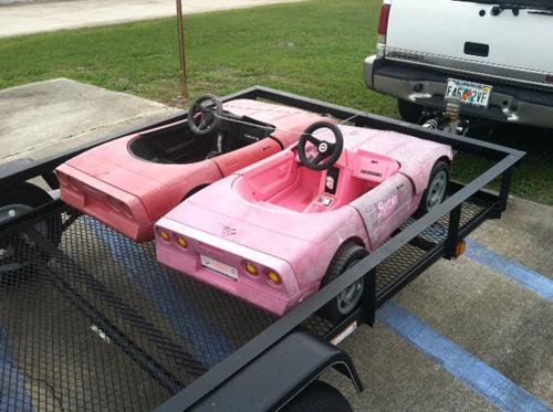 C4 Barbie pedal cars