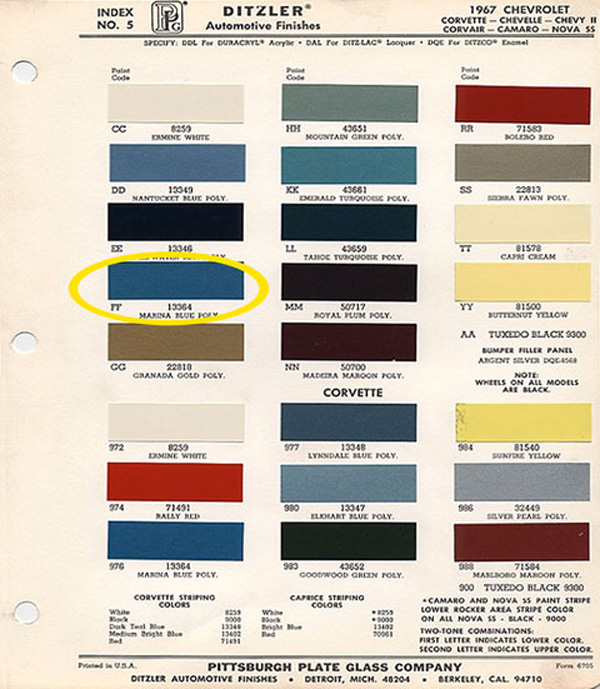 Ers Paint Colors