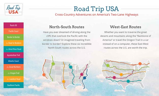 Great Road Trips Website