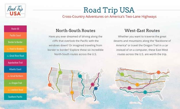 Great Road Trips Website